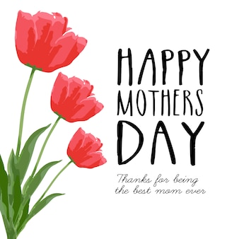 Carte de fête des mères heureux
