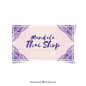 Carte de l'aquarelle Mandala