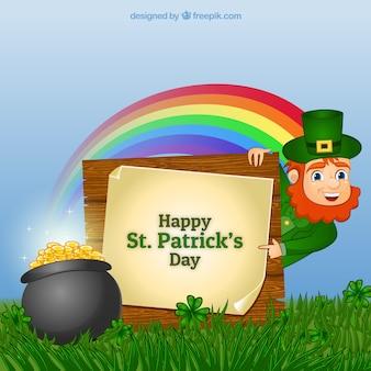 Carte de Leprechaun pour Saint Patrick