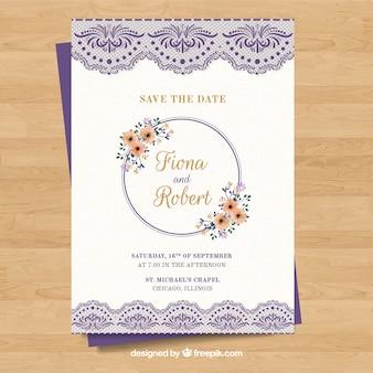 Carte de mariage élégante