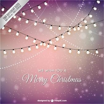 Carte de Noël avec des lumières