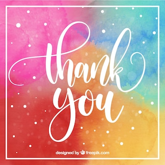 Carte de remerciement multicolore