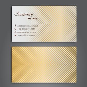 Carte de visite avec design doré