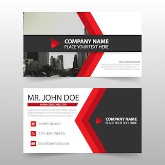 Carte de visite modèle d'entreprise Red nom de la carte
