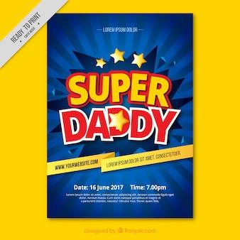 Carte de voeux fantastique pour la fête des pères