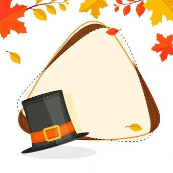 Carte de voeux pour la fête du jour de Thanksgiving.