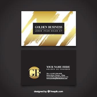 Carte dorée luxueuse