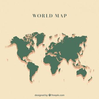 Carte du monde vert