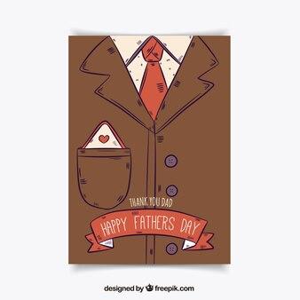 Carte illustrée du jour du père