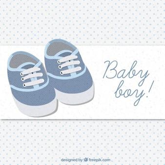 Carte mignonne de chaussures de bébé