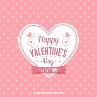 Carte mignonne de coeur de Saint-Valentin