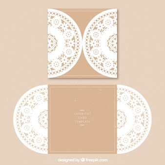 Carte ornementale florale