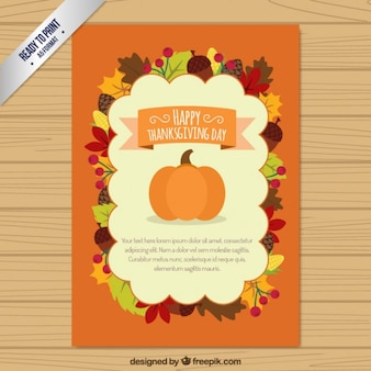 Carte plate Thanksgiving