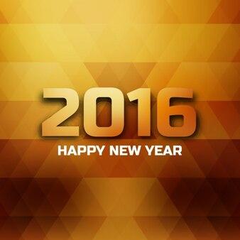 Carte polygonale de bonne et heureuse année