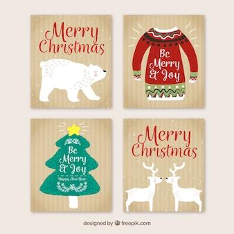 Cartes de Noël avec style original