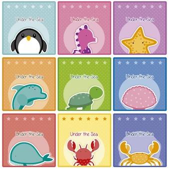 Cartes du monde de la mer