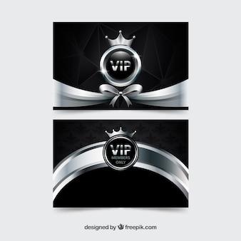Cartes VIP vip avec ruban et couronne