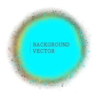 Cercle bleu vecteur de fond