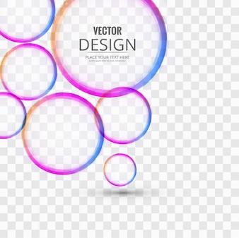 Cercles colorés de fond