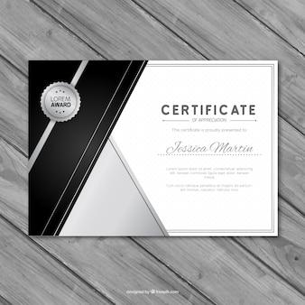 Certificat d'appréciation Argent