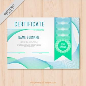Certificat de reconnaissance, récompenses événement