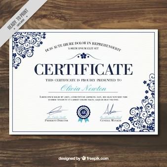certificat élégant du modèle de réalisation