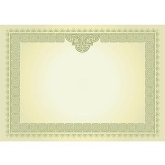certificat Format A4 diplôme