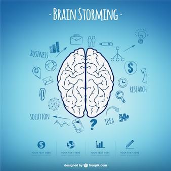 Cerveau concept de vecteur assaut