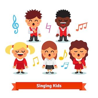 Chantant des enfants