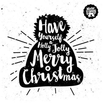 Chapeau de Noël avec le texte