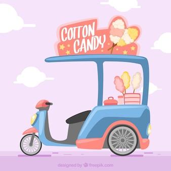Chariot à bonbons en coton moderne avec moto