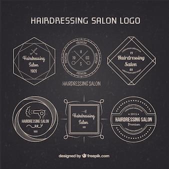 Cheveux Elégant Dressing Salon Logos