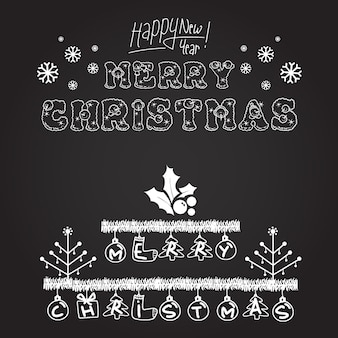 Christmas Typography logo designs