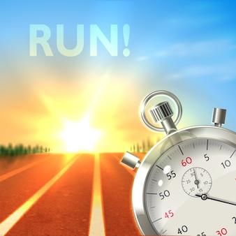 Chronomètre affiche de sport