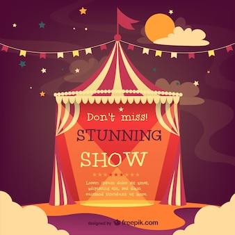 Cirque affiche de vecteur de tente