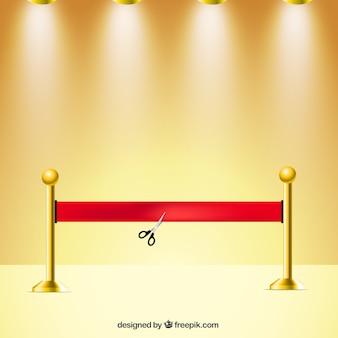 Ciseaux de coupe ruban rouge