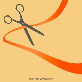 Ciseaux de coupe un ruban