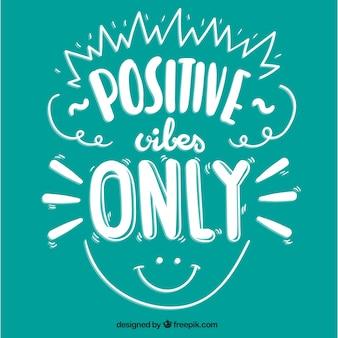 Citation positive mignonne avec un visage souriant