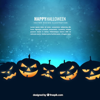 Citrouille d'Halloween fond