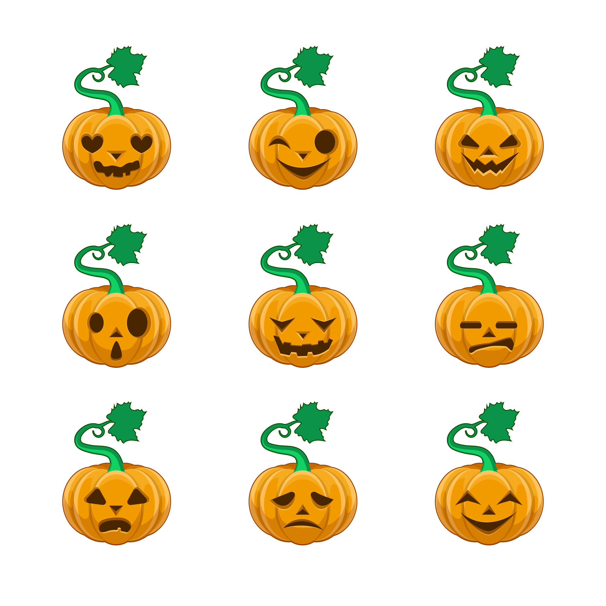 Citrouilles Halloween collection