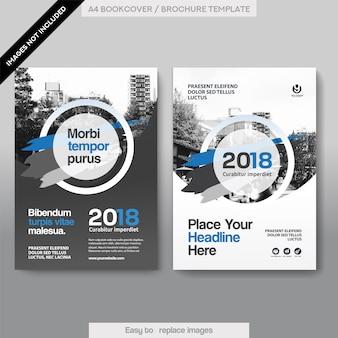 City Background Modèle de conception de couverture de livre d'affaires