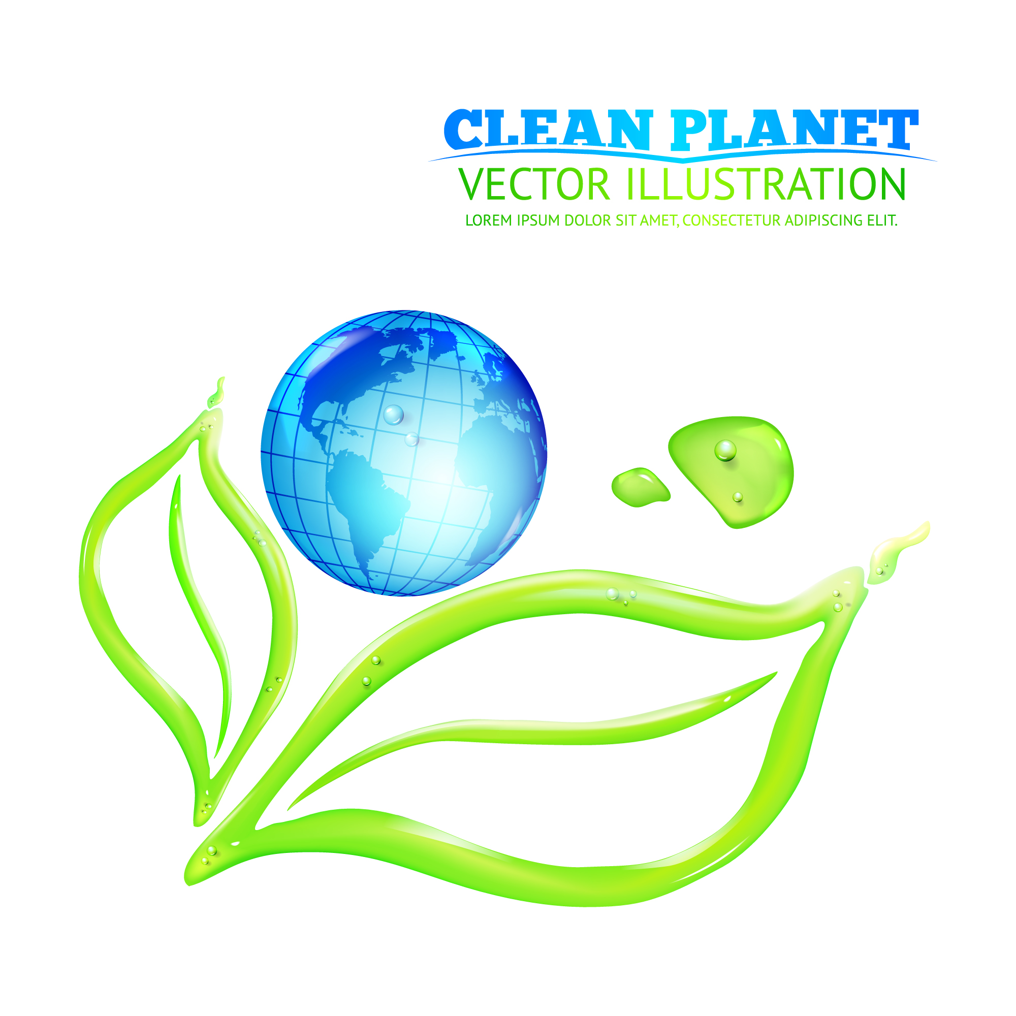 Clean planet illustration