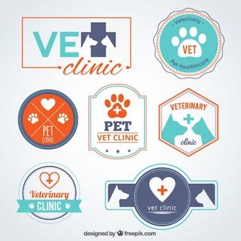 Clinique vétérinaire de modèles de logo