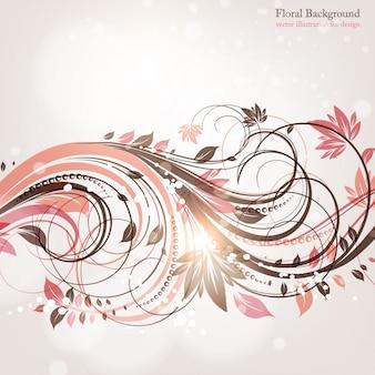 Clip-art lignes florales aiment orner