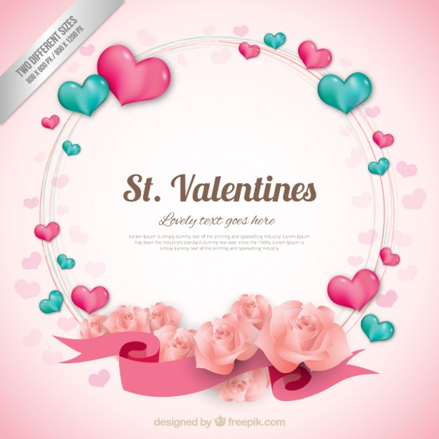 Coeur couronne valentine background
