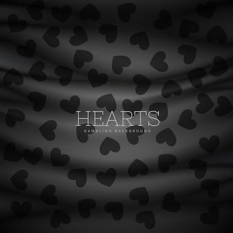 Coeurs symbole motif fond sombre