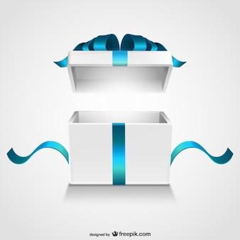 Coffret cadeau ouverte