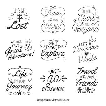 Collecte d'étiquettes de voyage
