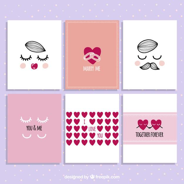 Collection belle carte Saint Valentin