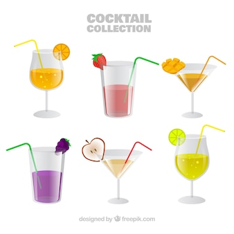 Collection cocktail de fruits